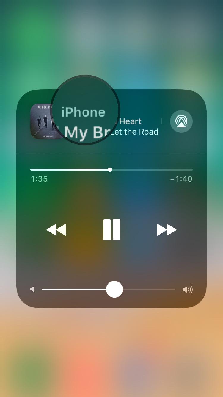 iOS 11 Beta 7 新功能 - 播放音樂時直接顯示播放裝置