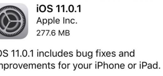 ios11.0.1更新
