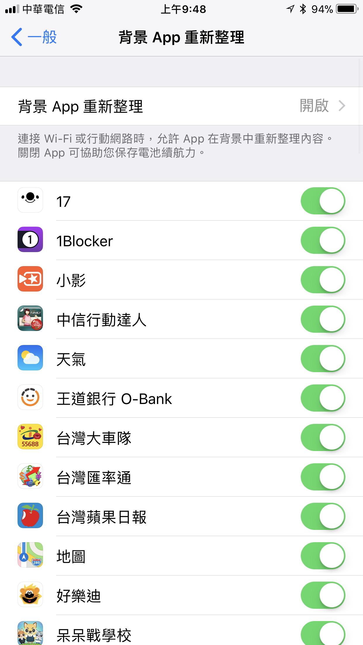 iOS關閉背景