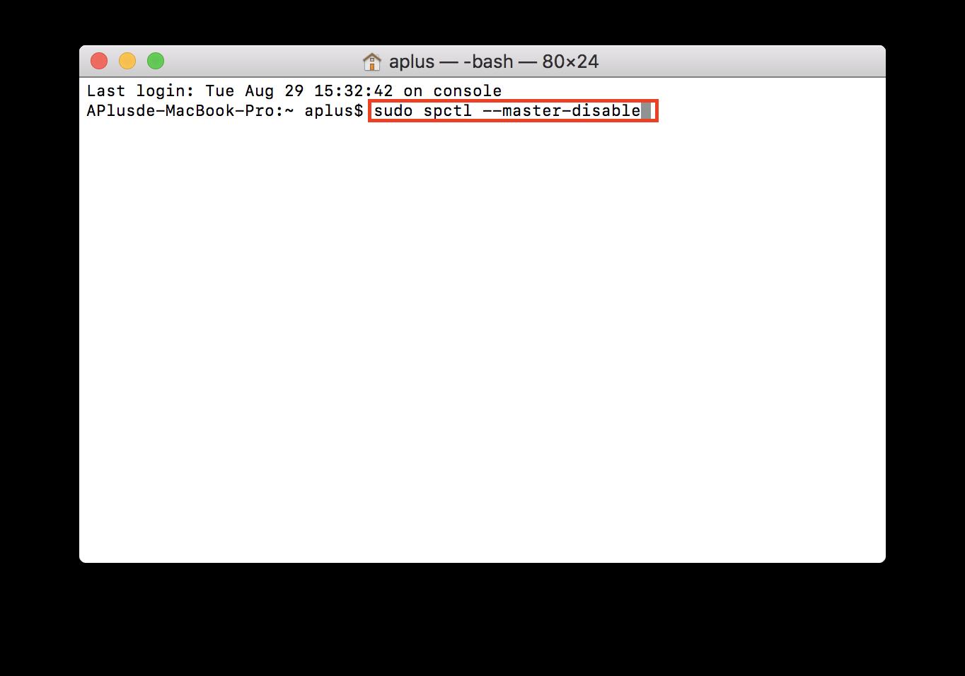 將「任何來源」的選項加回Mac的App允許項目之輸入指令