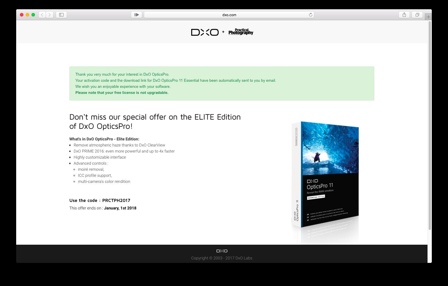 免PhotoShop、DxO軟體限免、繪圖軟體限免、限時免費、DxO限時免費、去噪技術