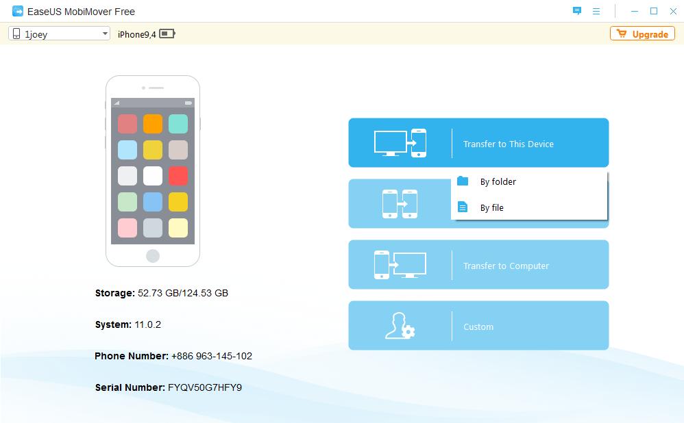 EaseUS MoviMover Free,免用 iTunes 也可以輕鬆將 iPhone 資料備份 匯出 匯入 轉移