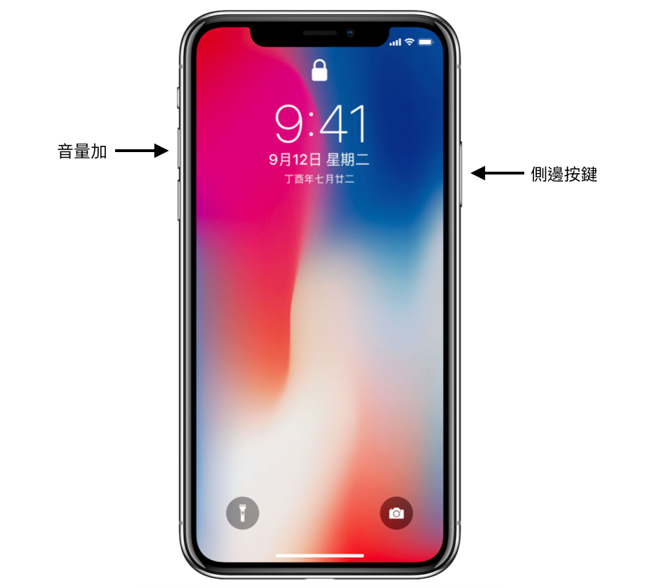 iPhone X螢幕截圖