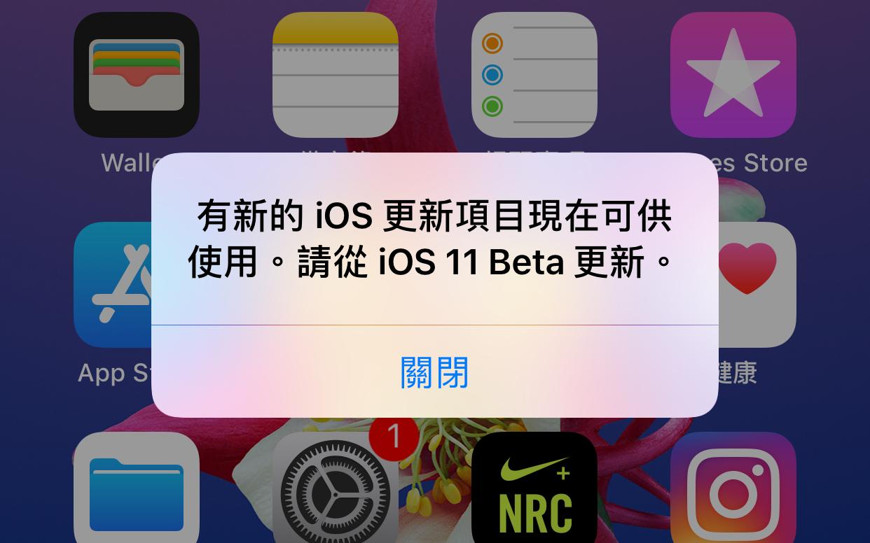 「請從iOS 11 Beta更新」是甚麼?