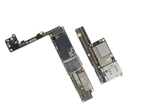 iPhone X拆解:與iPhone 8 Plus的主機板相比
