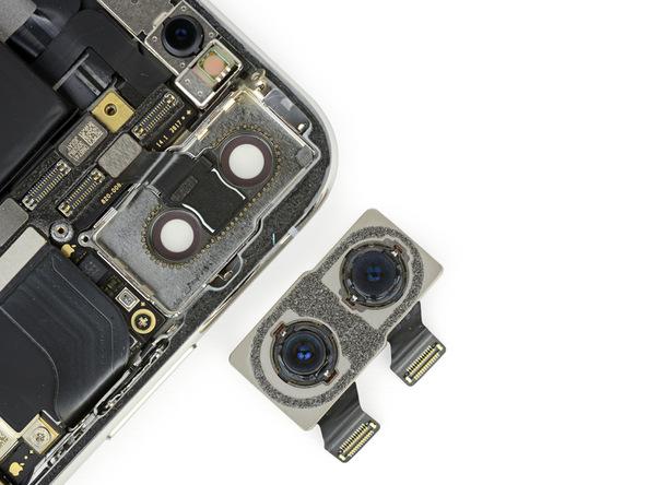 iPhone X拆解:雙鏡頭與背板