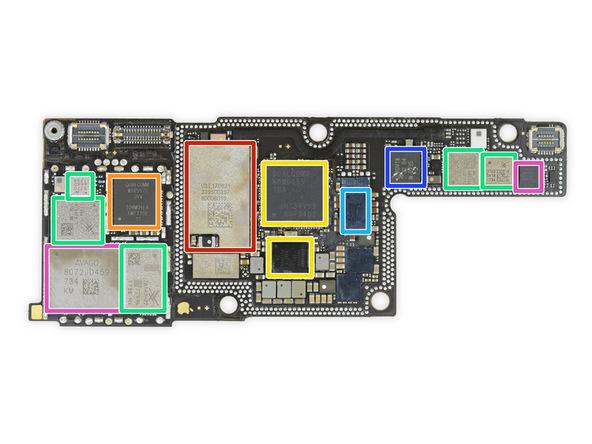 iPhone X拆解:關於第二層主機板