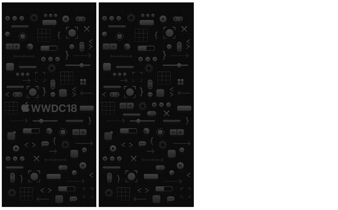 黑色系 iPhone X WWDC 桌布