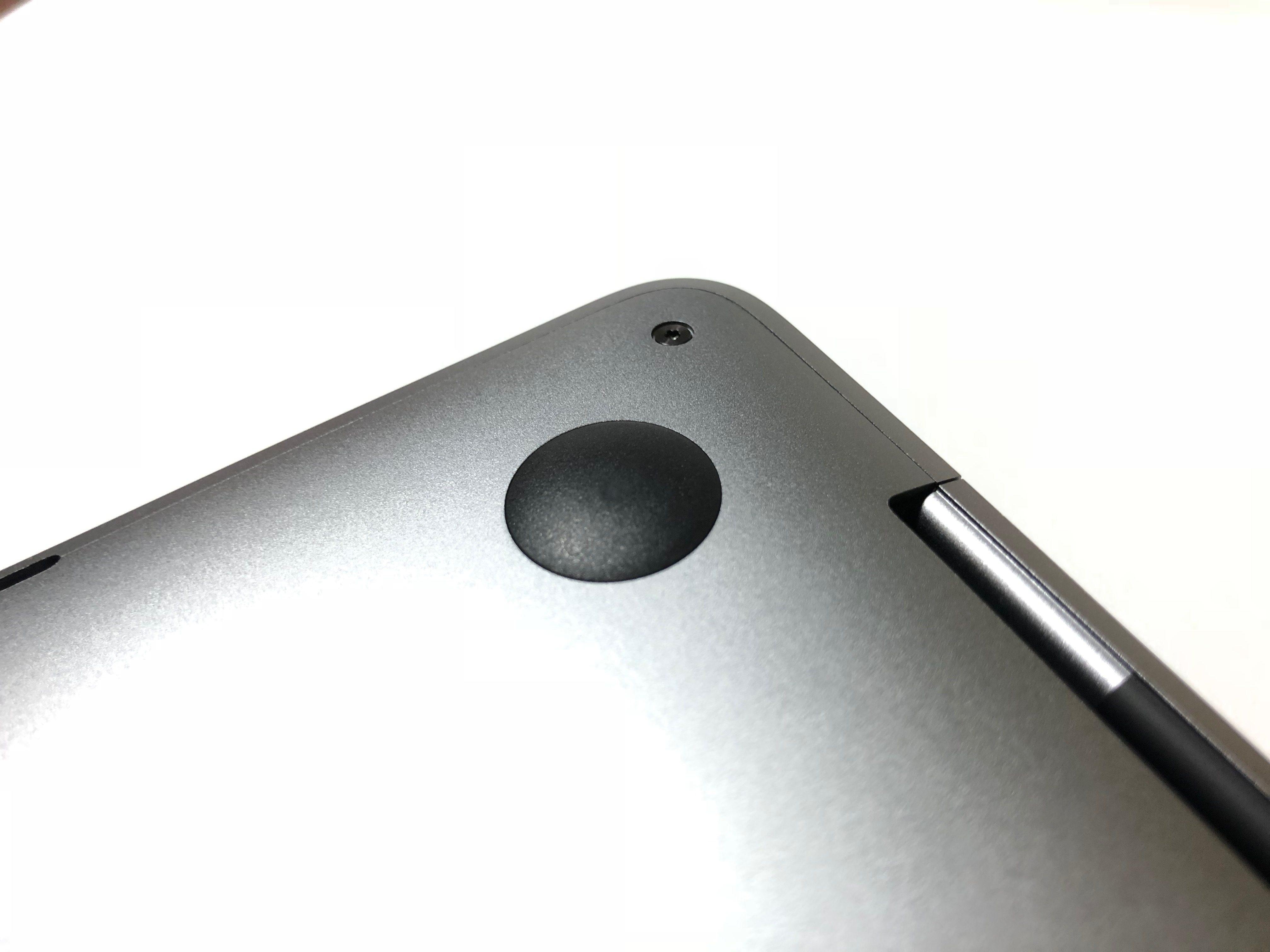 MacBook Pro 鍵盤故障送修過程-背板無更換