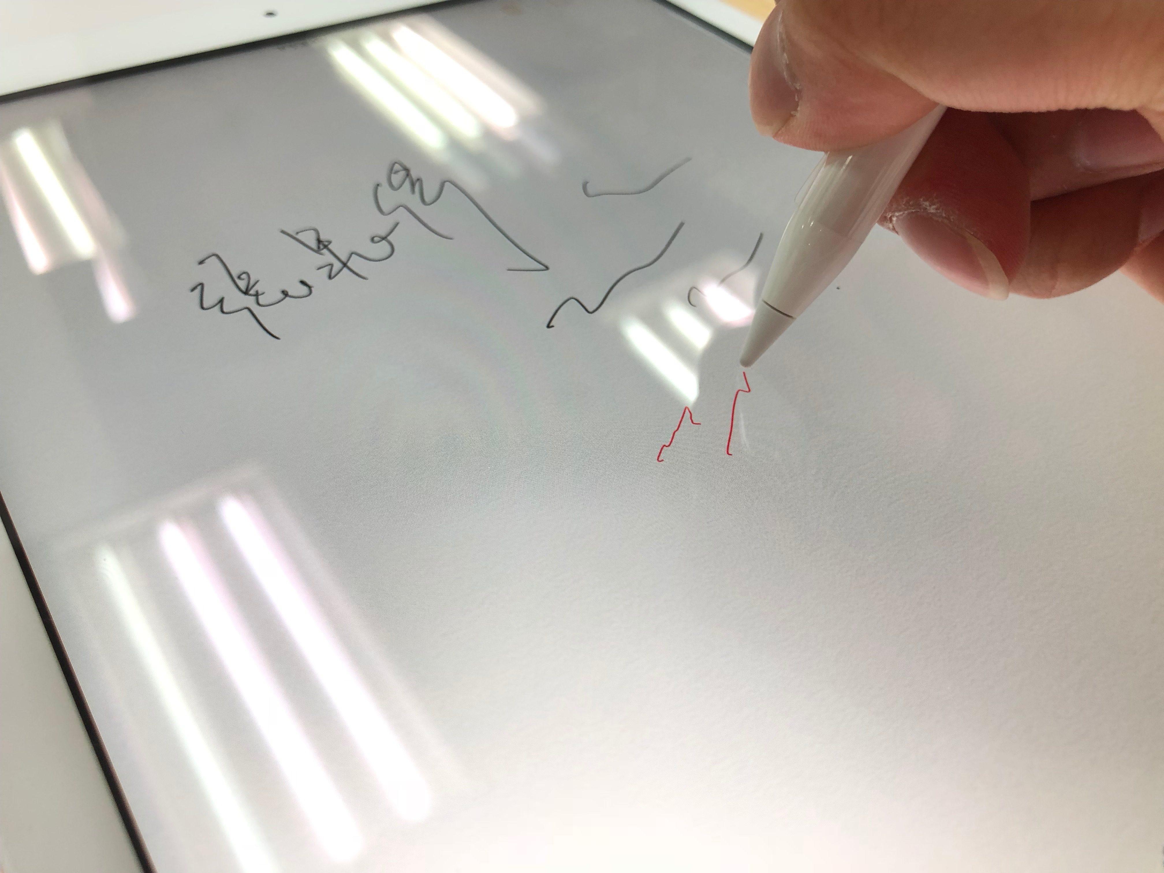 Apple Pencil 在 iPad 上的使用情形