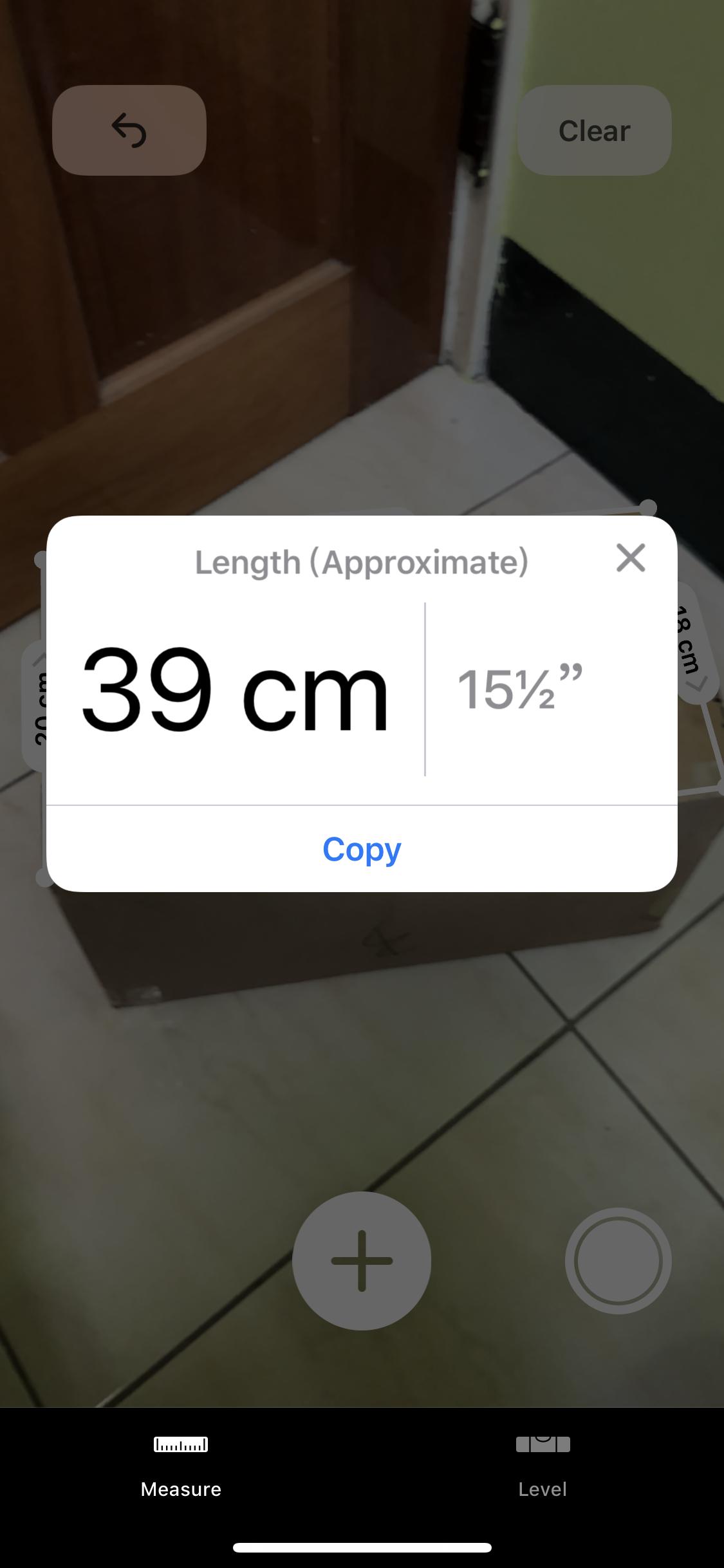 Measure 長度單位顯示
