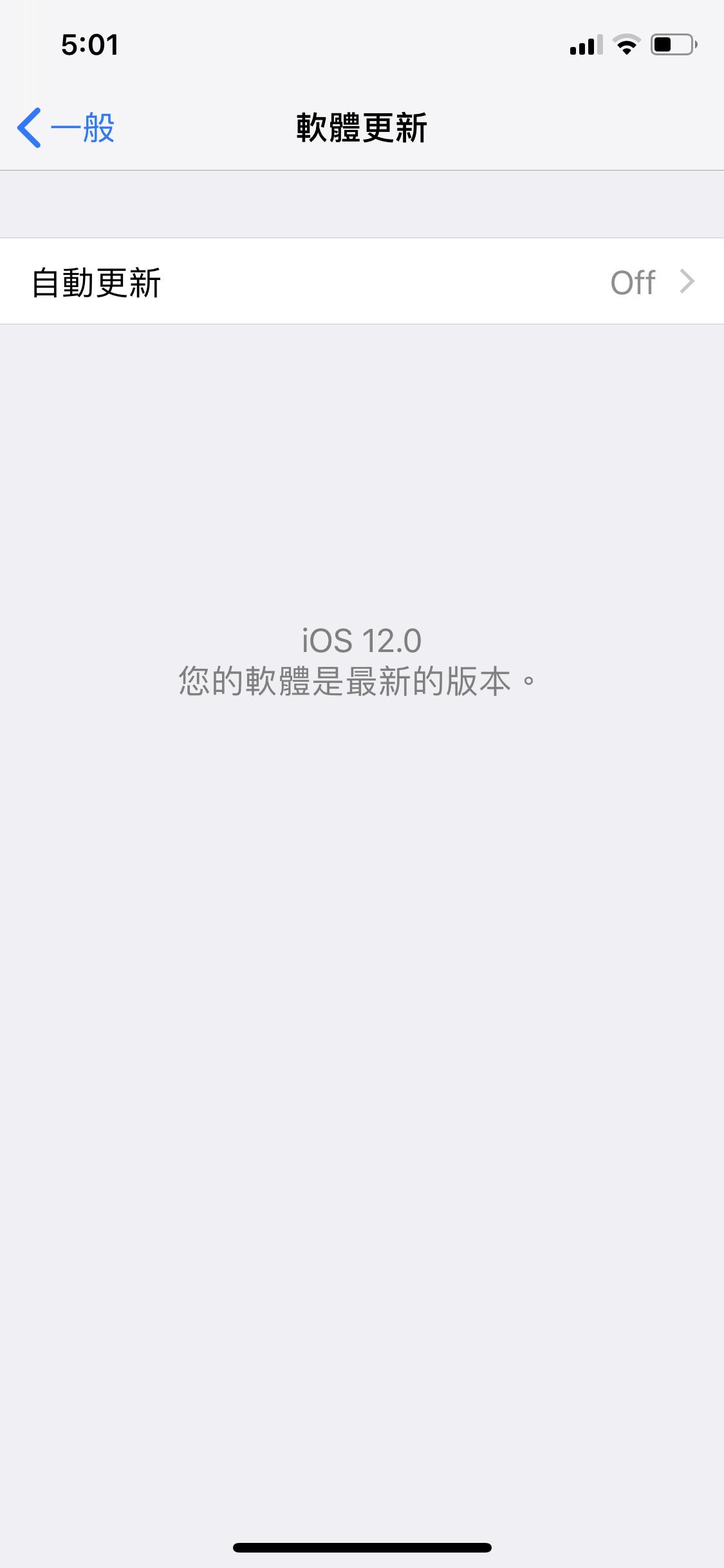 iOS 12、自動更新