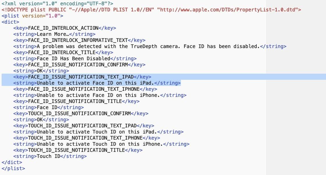 Face ID iPad