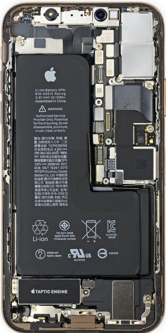 iPhone XS 透視桌布 零件
