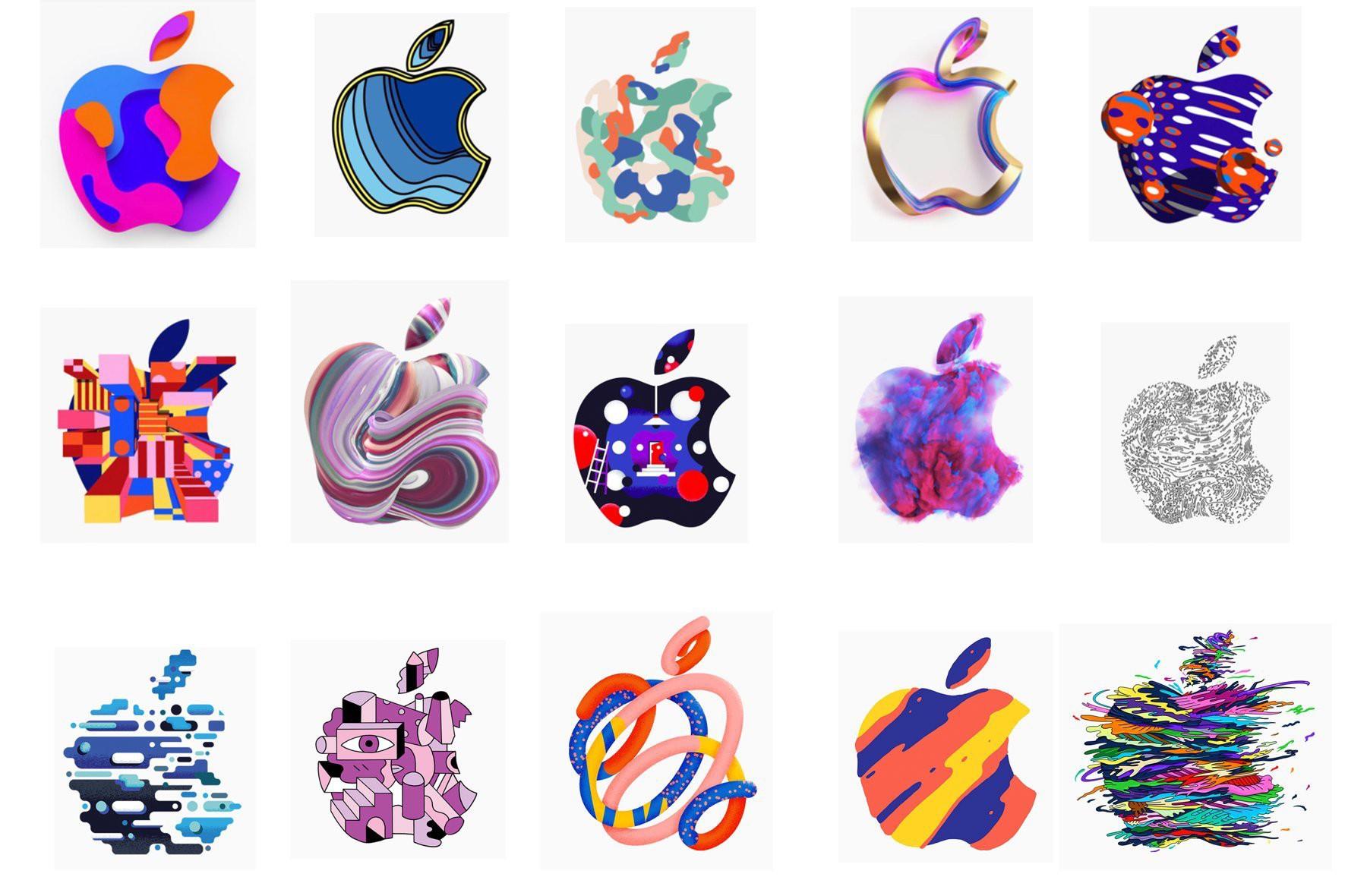 苹果首度如此大量地释出各式各样的Logo 设计
